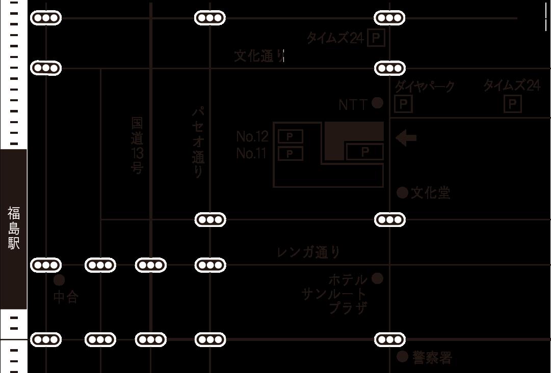 オプティカルヤブウチ 地図